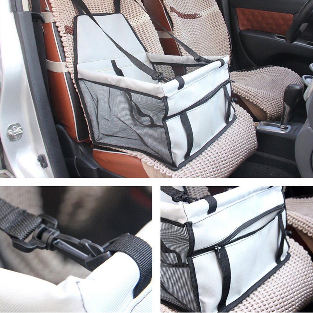 portable dog car seat belt booster carrier bag for pet cat puppy travel safetyaw ebay. Black Bedroom Furniture Sets. Home Design Ideas