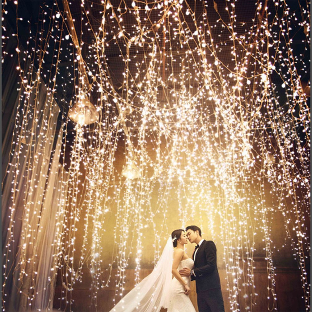 Wedding Backdrops With Lights: Waterfall 300/600LED Window Curtain Lights String Fairy