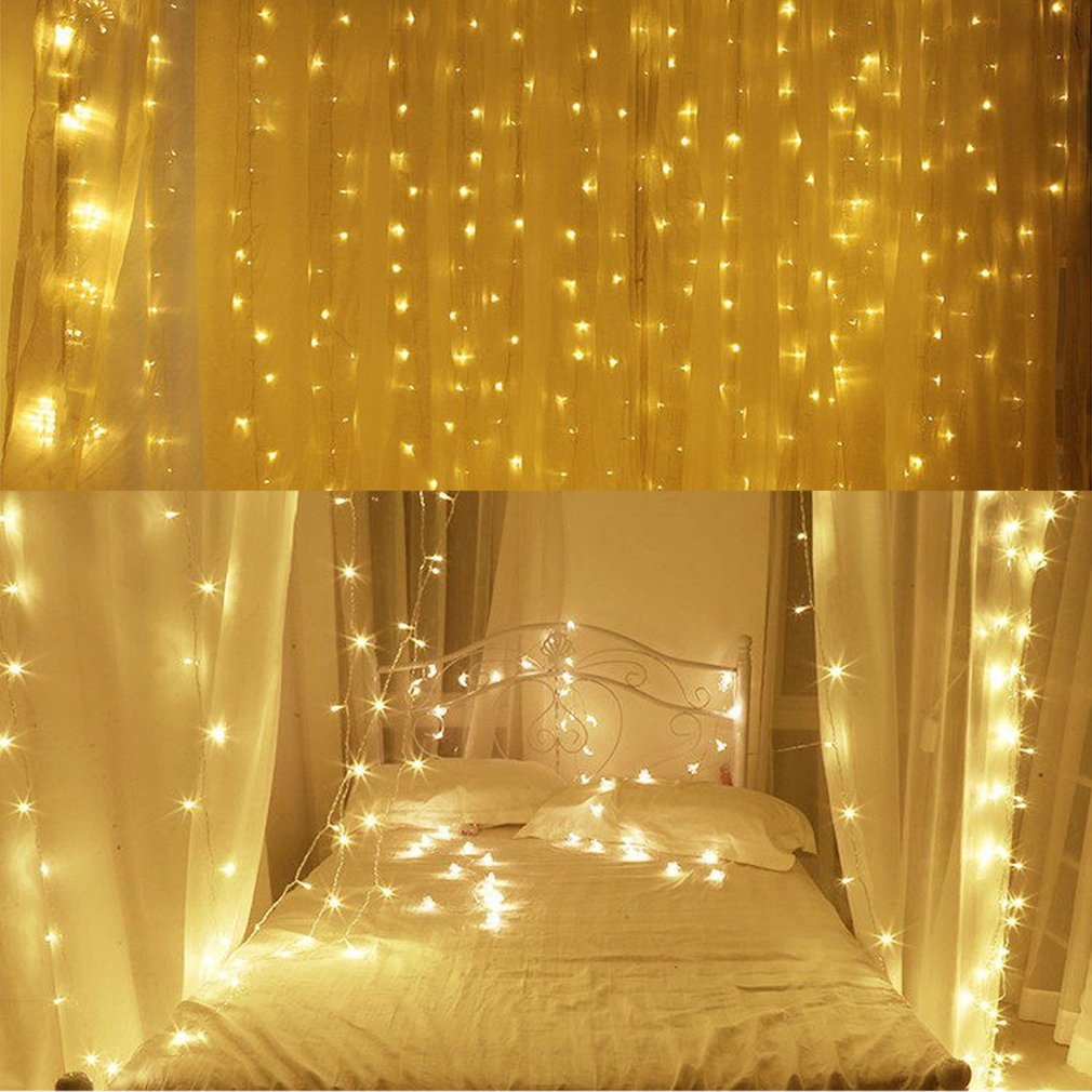Waterfall 300 600LED Window Curtain Lights String Fairy