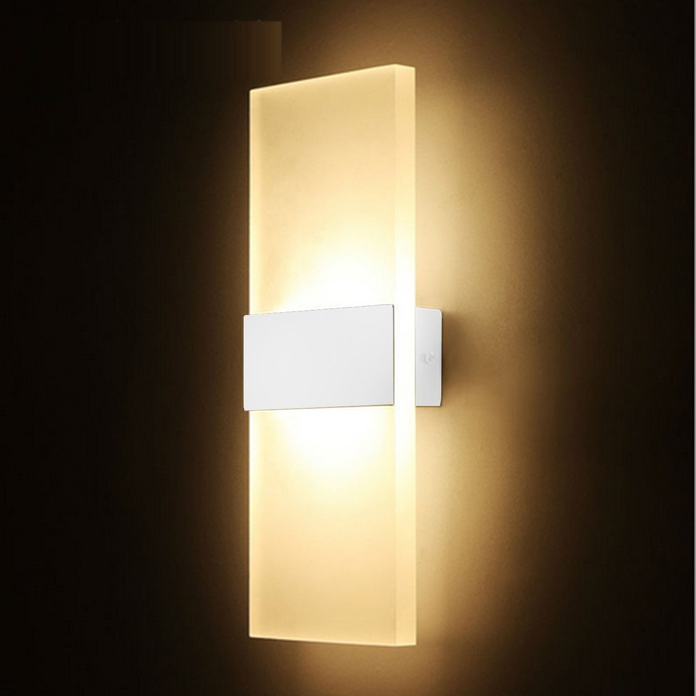 Modern LED Wall Light Up Down Cube Indoor Outdoor Sconce Lighting ...