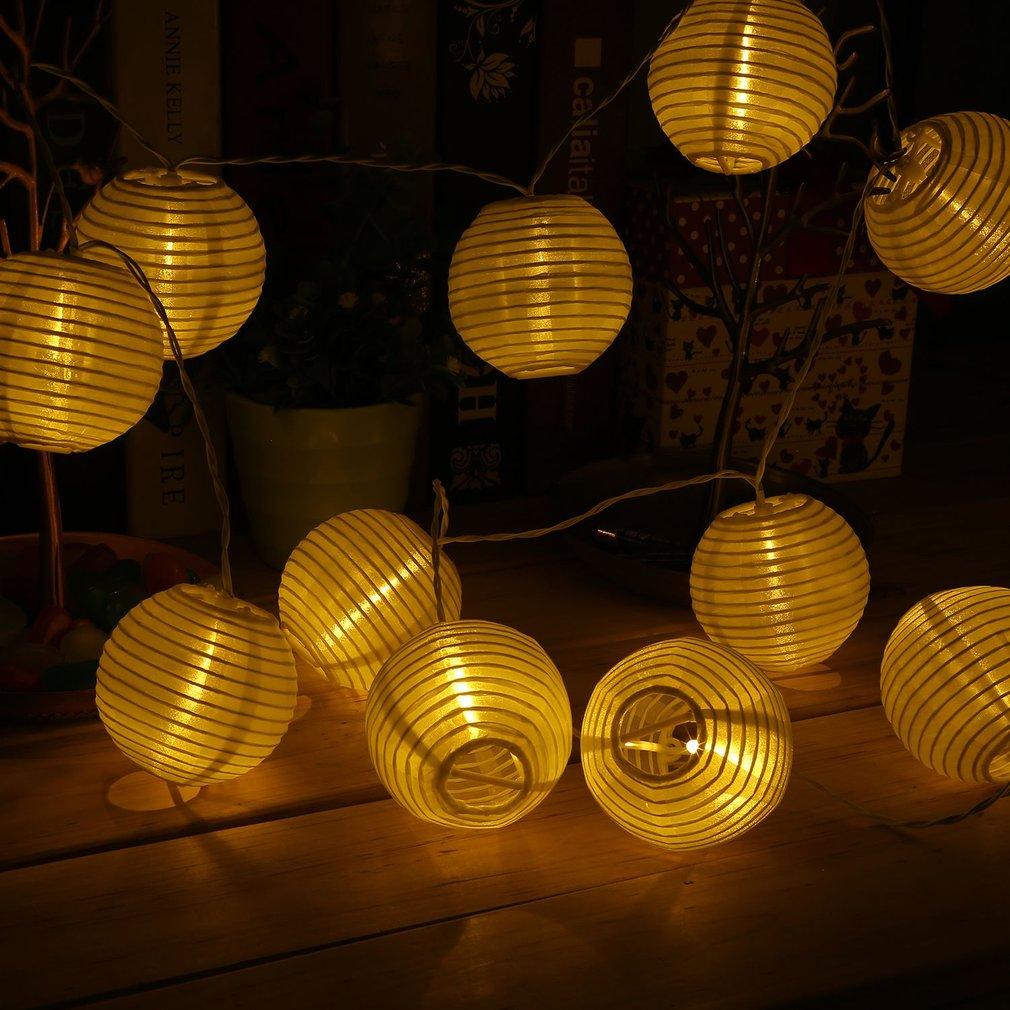 30 Lampion Gartendeko Lichterkette Laterne Lichter Beleuchtung ...