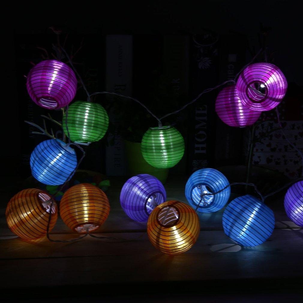 20 30 led lampion lichterkette papier laternen beleuchtung batterie bunt wei up ebay. Black Bedroom Furniture Sets. Home Design Ideas