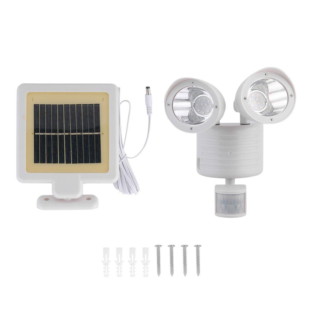led solar wandleuchte wandstrahler mit bewegungsmelder aussenlampe solarleuchte ebay. Black Bedroom Furniture Sets. Home Design Ideas