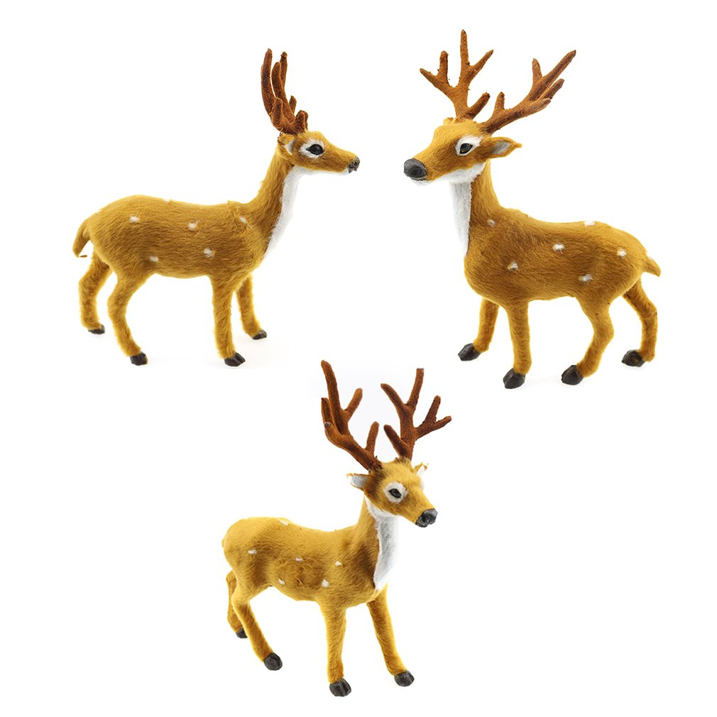 Lovely Simulation Reindeer Christmas Ornament Plush Deer Christmas ...