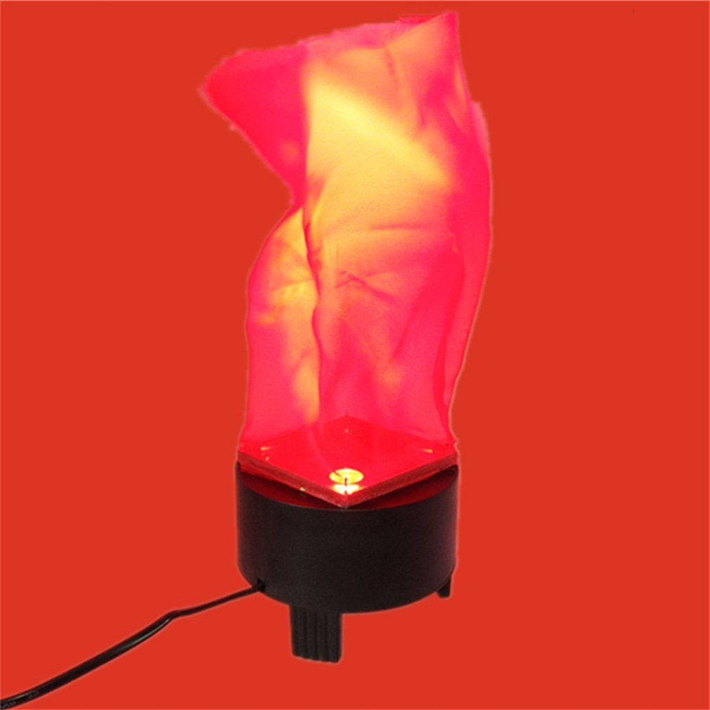 led fake flame lamp torch light fire pot bowl party home decor halloween prop
