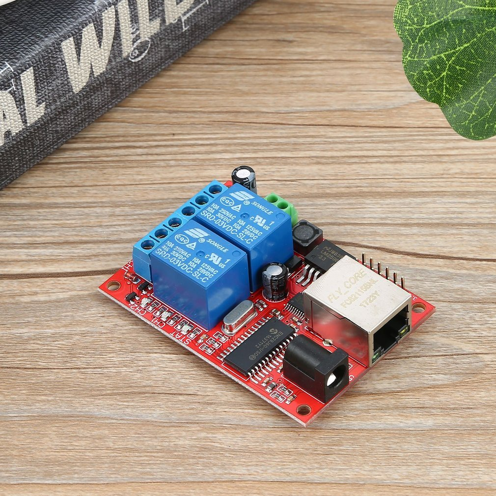 Lan Ethernet Relay Board Delay Switch Tcp Udp Controller Module Web 2 Way Using Onboard High Quality With Absorption Diode Circuit Stc Microcontroller For Industrial Master Chip 1 Channel Power Indicator