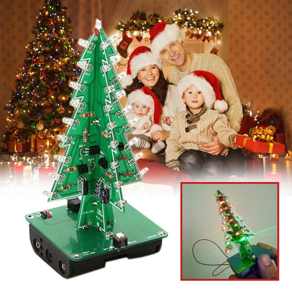 Christmas Tree LED Flashing Light DIY Kit Circuit Board Red Green ...