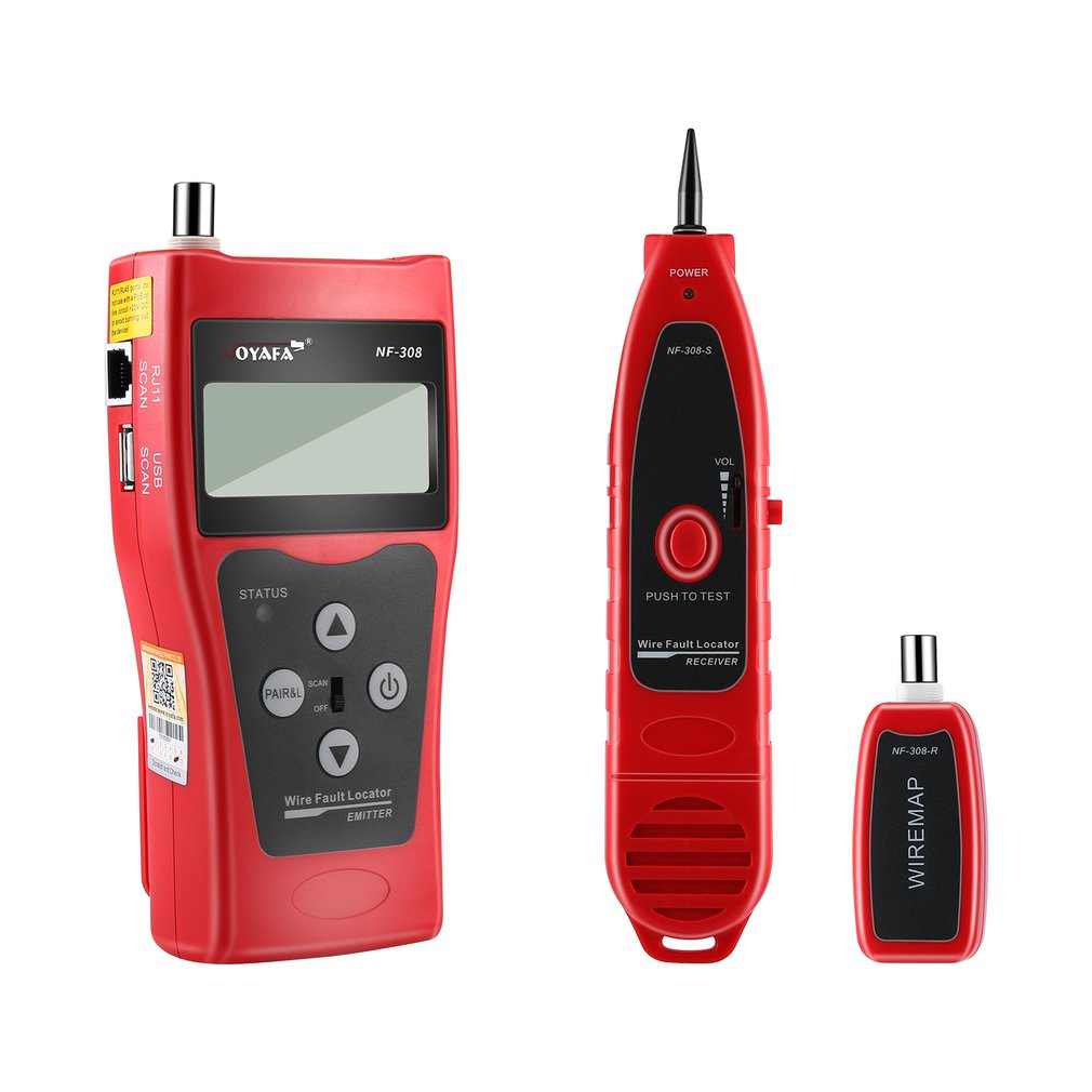Noyafa NF-308 Multipurpose LCD Display Network Cable Tester Line Finder KQ