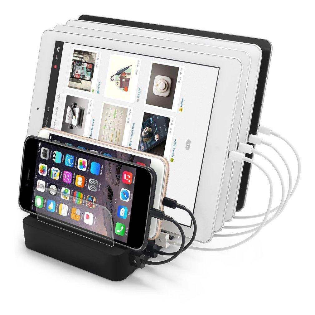 lot 6 15 port multi usb charging station stand charger dock for phone tablet gt ebay. Black Bedroom Furniture Sets. Home Design Ideas