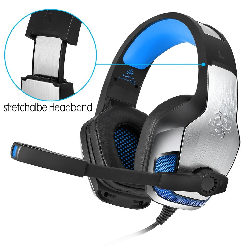 Details about Hunterspider Gaming Headset Stereo Headphone 3.5mm Wired W/Mic For PS4 Xbox PC L