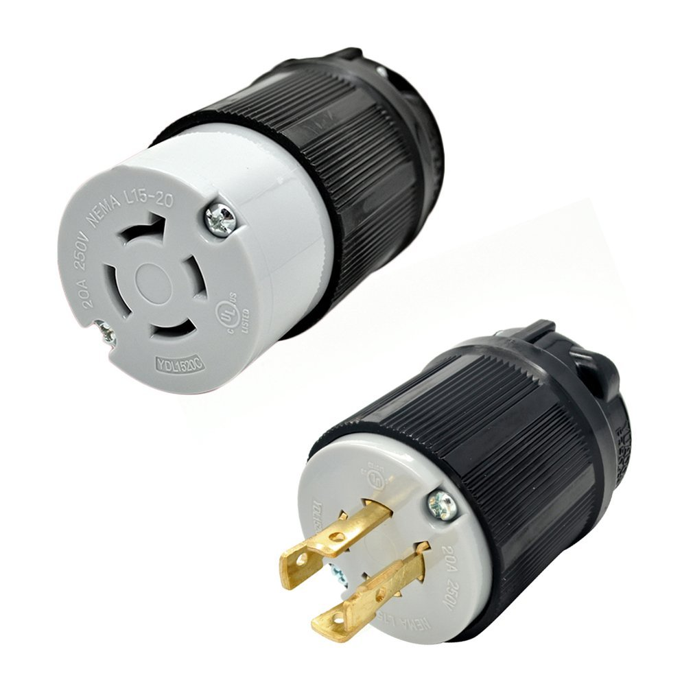 Nema L15 20 Wiring Reinvent Your Diagram L14 20p 3 Pole 4 Wire 20a 125 250v Locking Connector Ul Rh Ebay Com Wireing Plug
