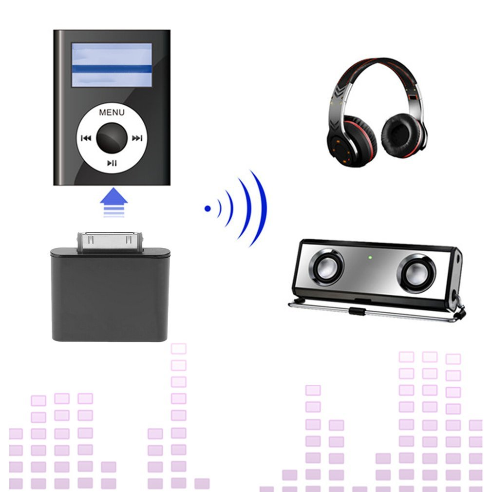 30PIN Wireless Bluetooth Audio Transmitter Stereo Adapter For IPod SeriJL
