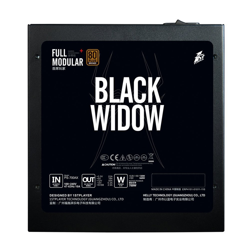 BLACKWIDOW-Full-Modular-1STPLAYER-Black-Power-Supply-80PLUS-Bronze-APFC-Input-CH