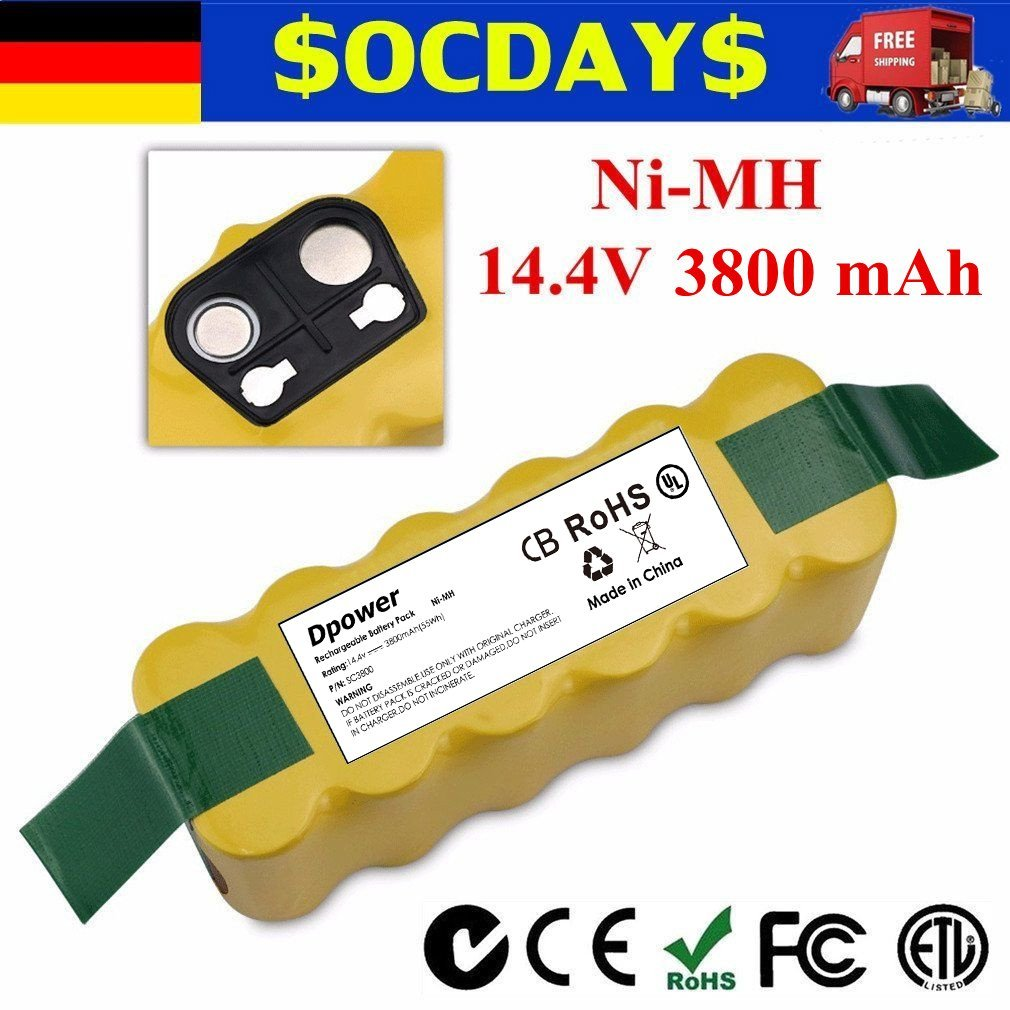 Details about Ni-MH Battery for Irobot Roomba Morpilot 3800mAh 880 870 770  780 500 510 530 NP