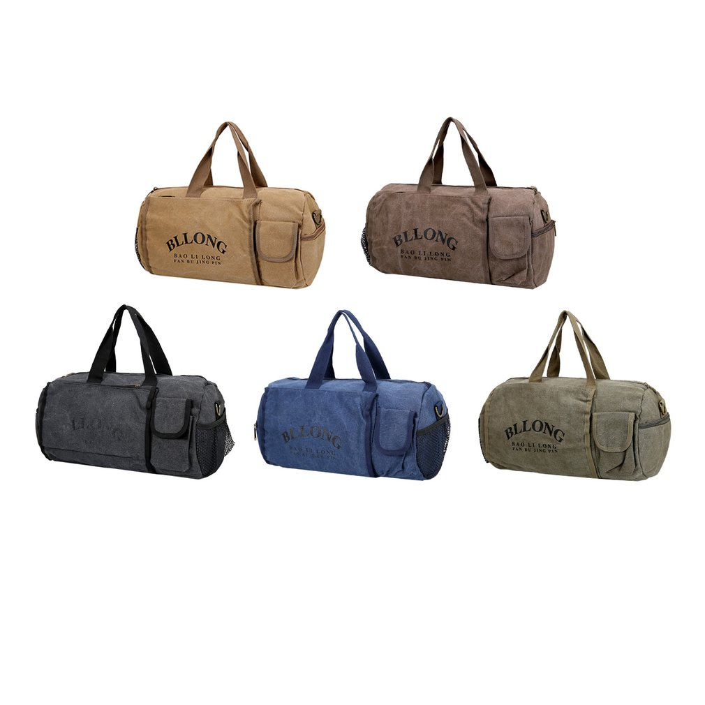 a7868db30279 Canvas Sports Bag Cylinder Package Gym Bag Outdoor Traveling Luggage ...