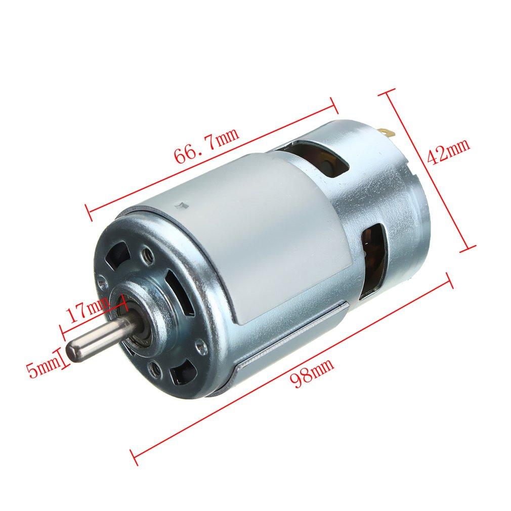 High Speed Electric 775 DC12V-24V 3500-9000rpm Motor Ball Bearing ...