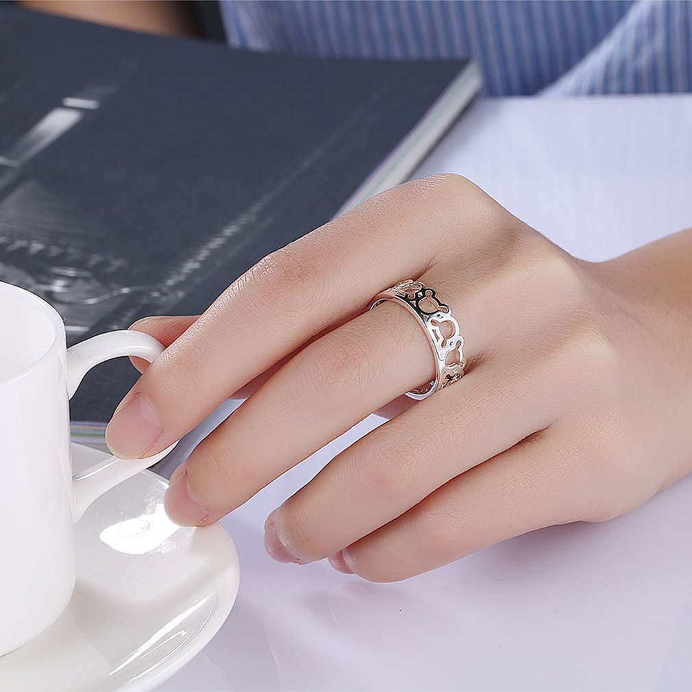 handcrafted wedding rings Cute Hollow Out Women Refinement Rings ...