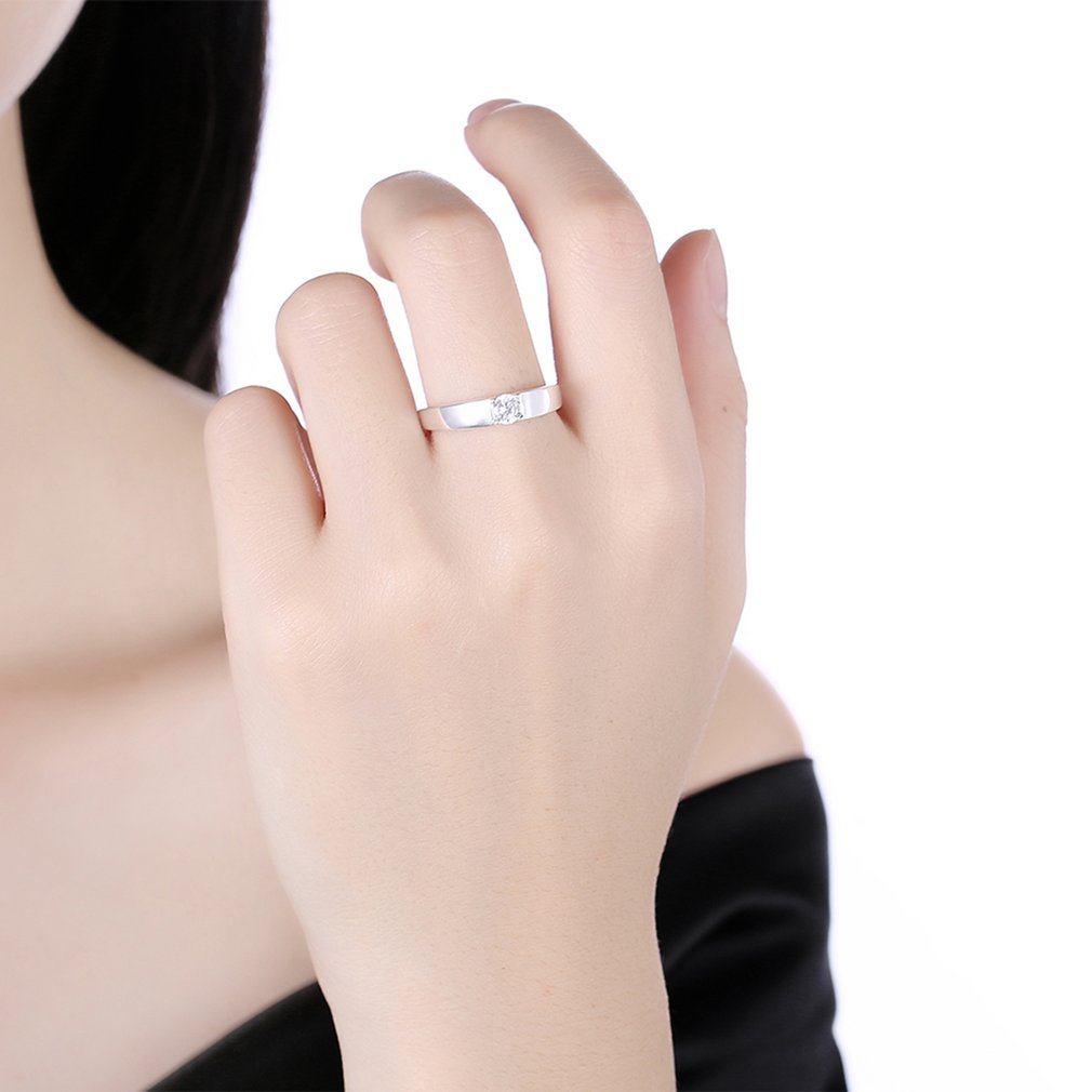 Women Copper Rings Simple Small Zircon Wedding Engagement Promise ...