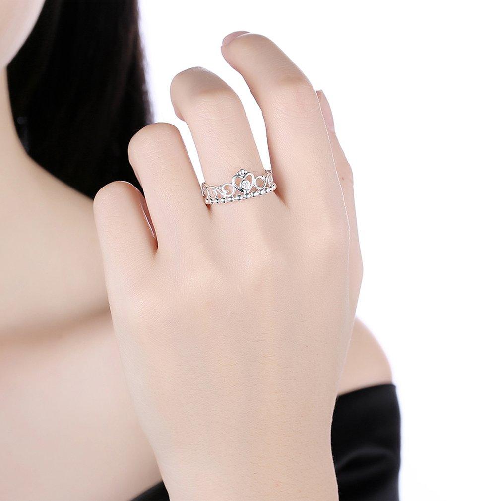 Women Romantic Heart Shape Zircon Rings Luxury Ring Fashion Jewelry ...