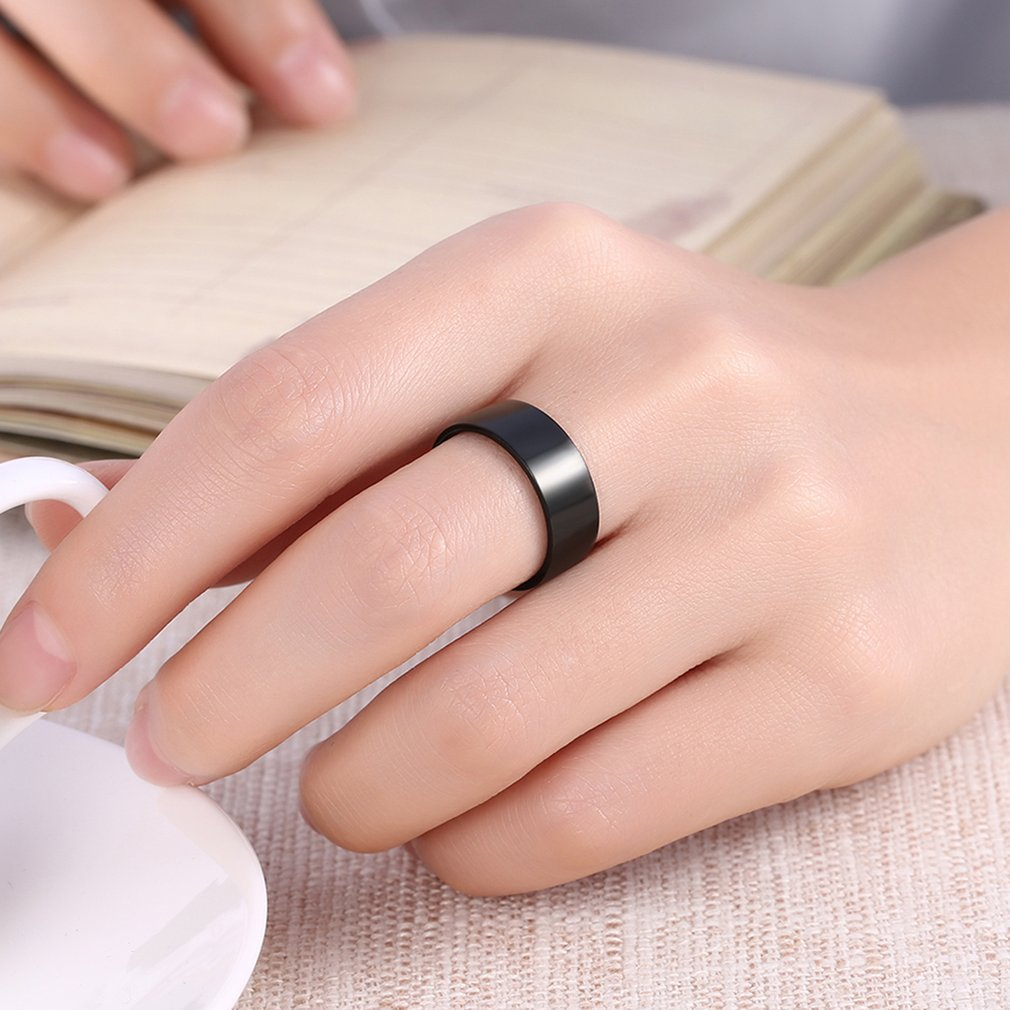 Male Classic Wedding Band No Setting Titanium Steel Finger Ring for ...