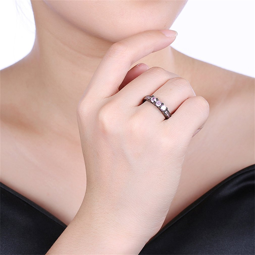 LKN18KRGPR2038-A Women Eye-catching Classic Ring Wedding Bands ...