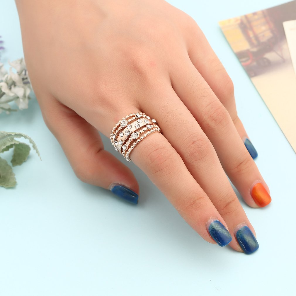 Fashion Stackable Ring Adorable Small Plated Rings for Women Girls ...