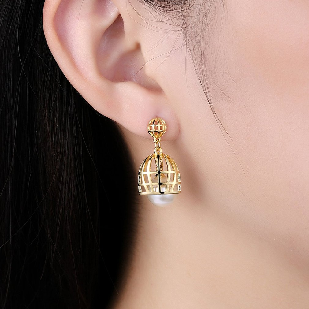 earrings trendy round for plated wholesale feather women p gold stud rose