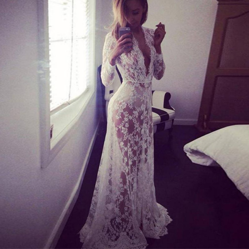 6aaffdf12ef6 Details about Women Sexy Evening Party Ball Lace Gown Formal Bridesmaid Long  Maxi Dress WQ