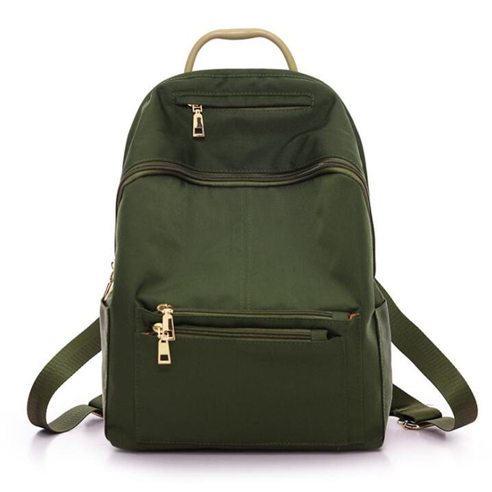 deb392df1a Women Nylon Backpack Casual Solid Color Teenage Girls Students ...
