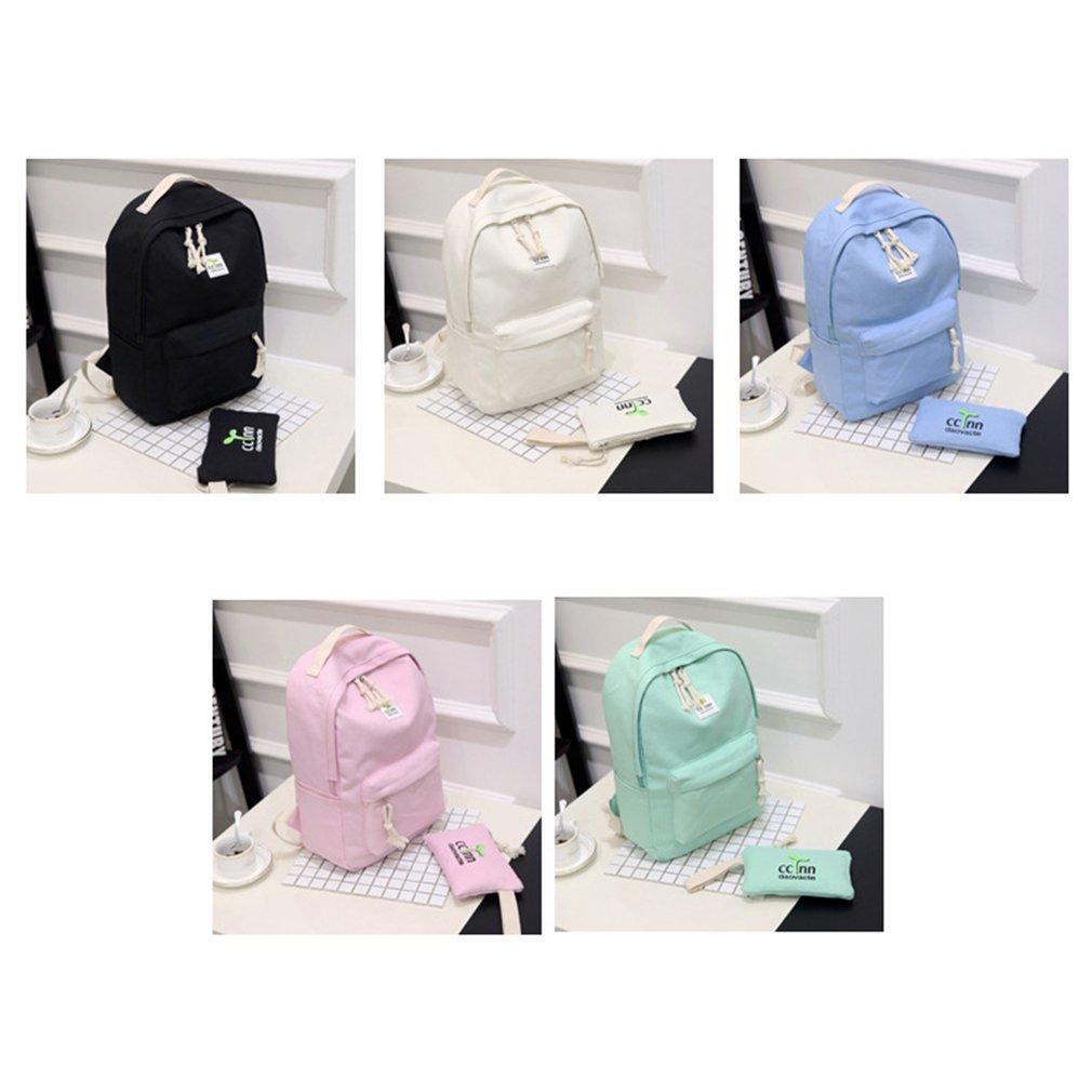 8121487bf5 2PCS SET Women Canvas Backpack Casual Teenage Girls Students School Bag VE