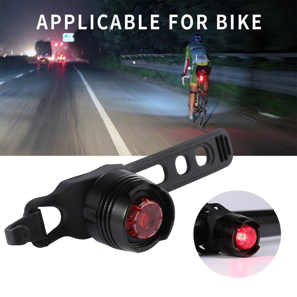 COB LED Bicycle Bike Cycling Rear Tail Light USB Rechargeable 4 Modes Lamp ZH