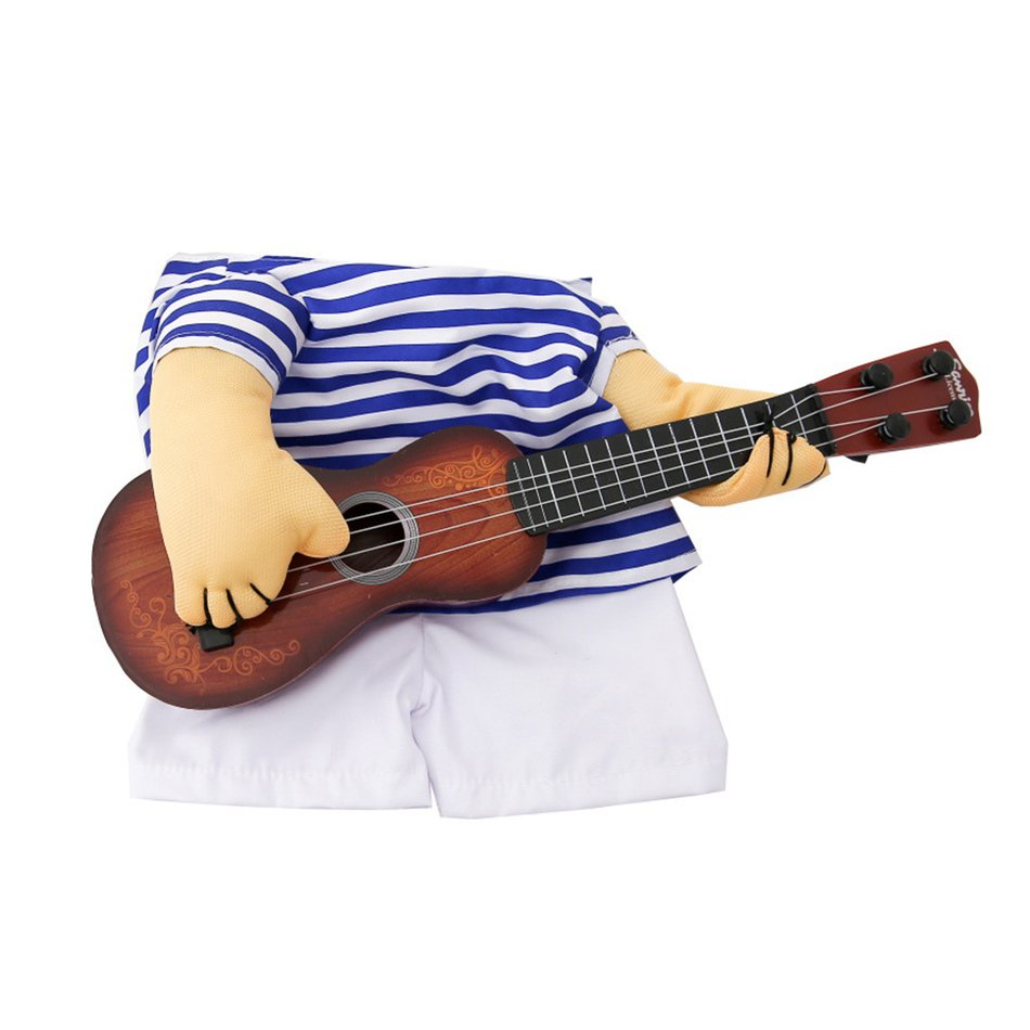 Funny Pet Guitar Clothes Dog Guitarist Dressing Costume Pet Guitar Dress#OZZ 15