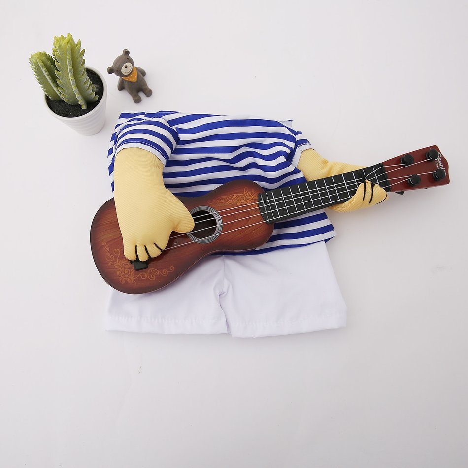Funny Pet Guitar Clothes Dog Guitarist Dressing Costume Pet Guitar Dress#OZZ 17