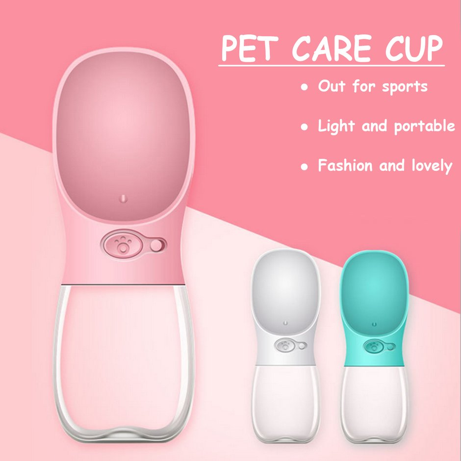 350ML-Pet-Dog-Fedding-Bottle-Food-Grade-Plastic-Drinking-Water-Bottle-New-MG