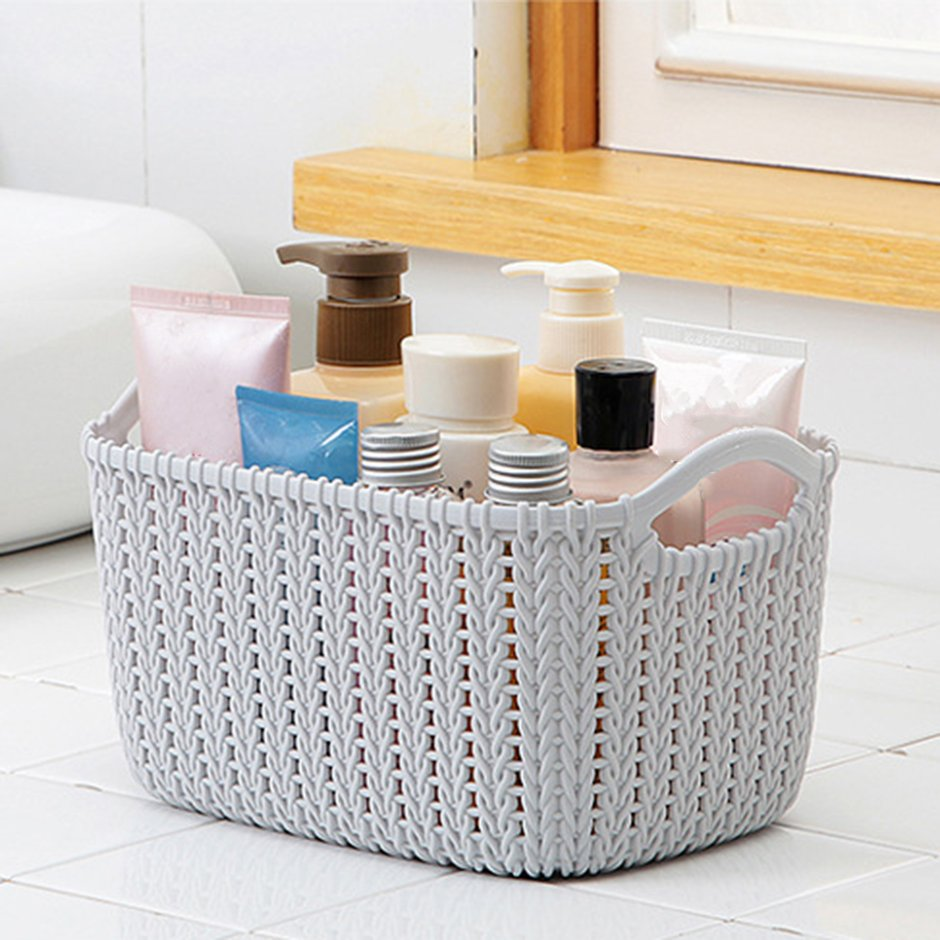 instagram weaving rattan basket clothes toys bathroom. Black Bedroom Furniture Sets. Home Design Ideas