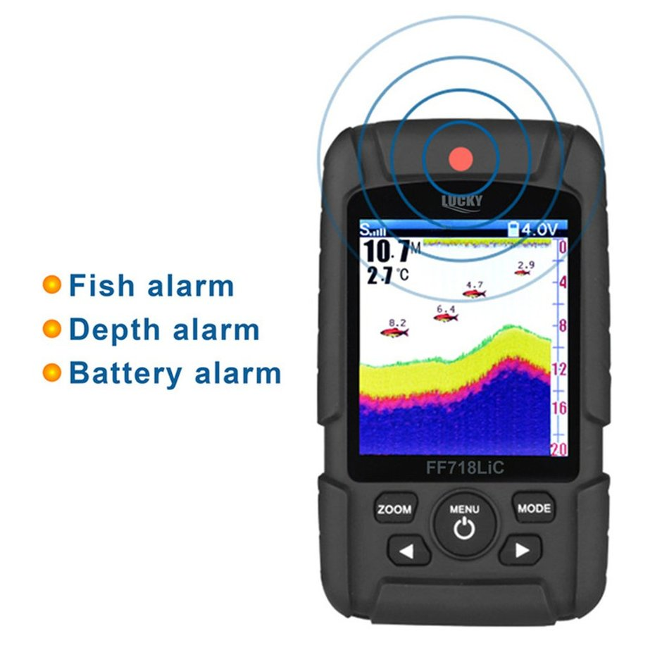 Portable Wireless+Wired 2 In One Waterproof Fish Finder Monitor ...