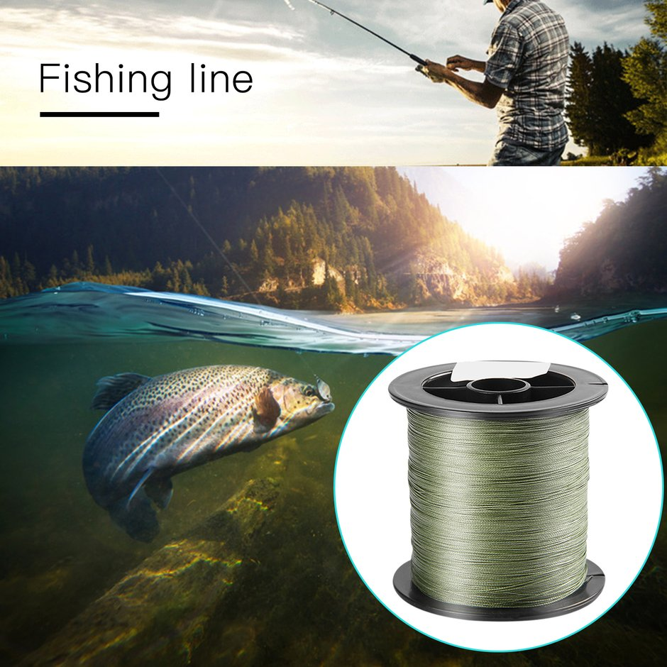 4 strands braided 300m pe fishing line abrasion resistant for Braided fishing line