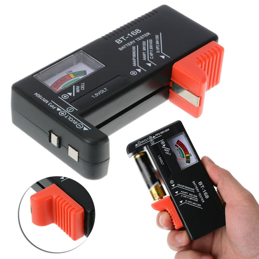 Pointer Digital LCD AA//AAA//C//D//9V//1.5V Button Cell Battery Volt Tester Tool Acc