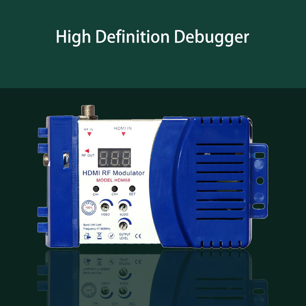 Details about HDM68 Modulator Digital RF HDMI Modulator VHF UHF Frequency  PAL/NTSC Standard ND