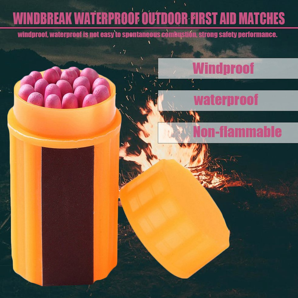 Portable Extra-large Head Windproof Waterproof Matches LM