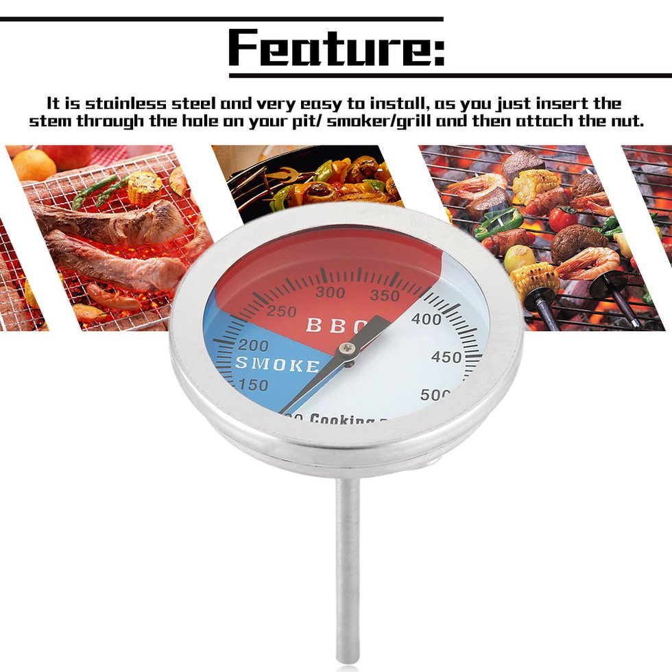 New Home Stainless Steel Temperature Oven Thermometer Gauge Kitchen Food ONZY