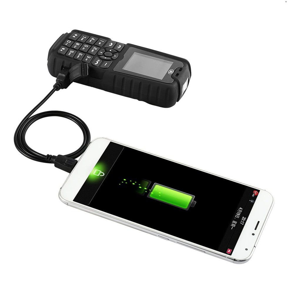 XP3300 Dust/Shock/Water-Proof 128*160 Resolution Phone With Power Bank EM