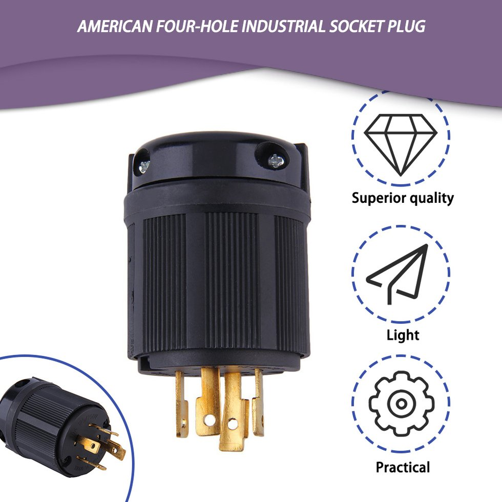 Outdoor Power Locking NEMA L14-30P Twist-Lock Plug 30A 125-250V 4P 4W US New MT