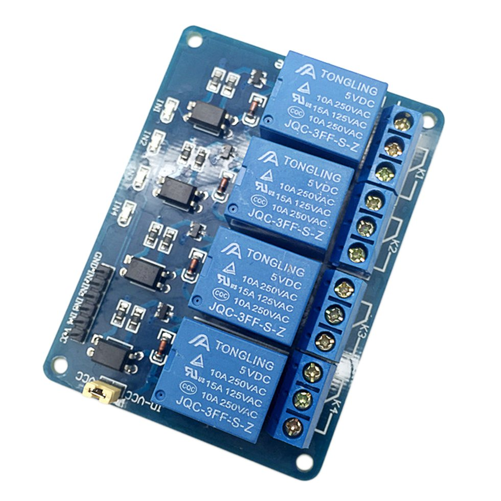 5v 4 Channel Relay Board Module For Arduino For Raspberry Pi Arm Avr
