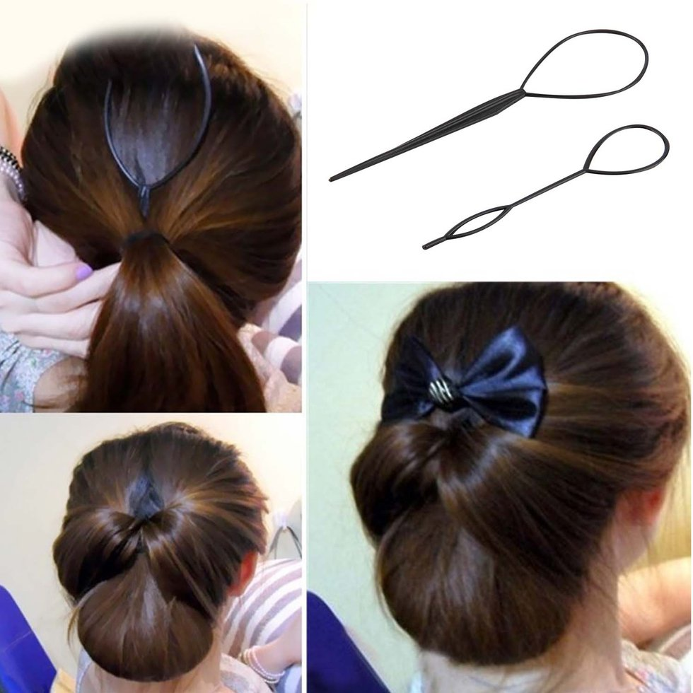 Details About Ponytail Creator Plastic Loop Styling Tools Black Topsy Pony Tail Hair Braid Nd