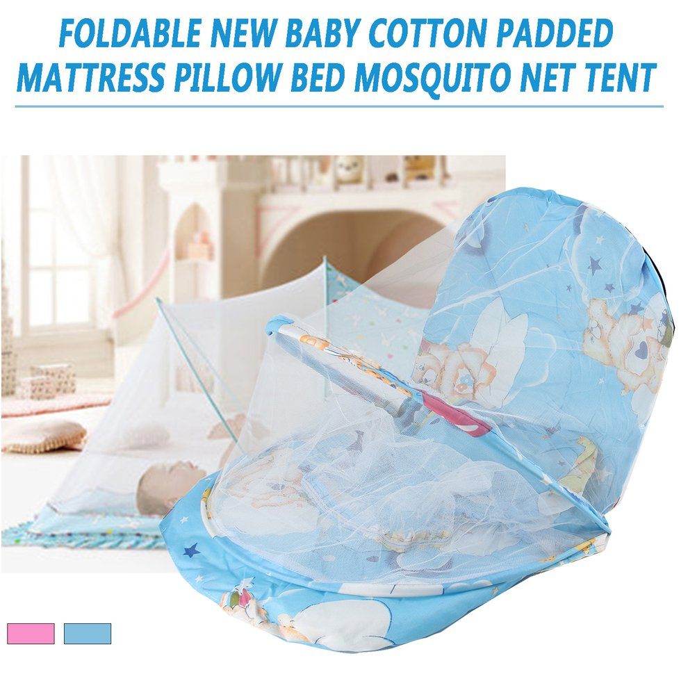 Infant Bed Pink//Blue Outdoor Anti-Mosquito Beach Kid Tent Camping With Door