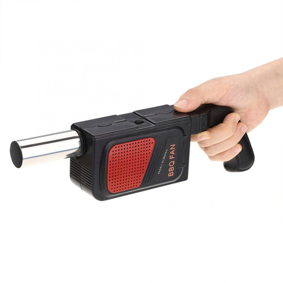 Grill Hair Dryer Barbecue Lighter Lighter Grillhilfe Blower Fan Glow Battery new