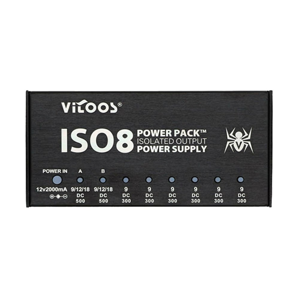 vitoos iso8 isolated output noise reduction guitar effects pedals power supply r 844132258348 ebay. Black Bedroom Furniture Sets. Home Design Ideas