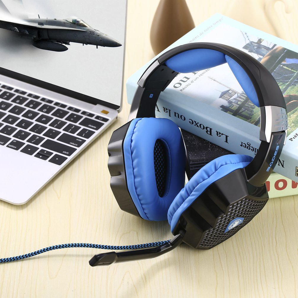 Details about Black USB PC Gaming Headsets Breathing LED 7 1 Sound Stereo  for SADES A70 H90W