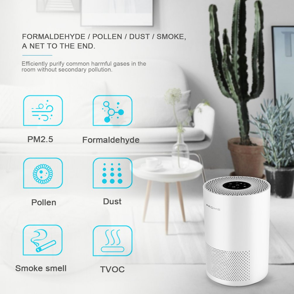 Table Hepa Filter Air Purifier Cleaner Remove Odor Mold